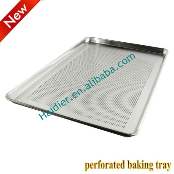 Anodized aluminum alloy metal baking tray, perforated baking tray