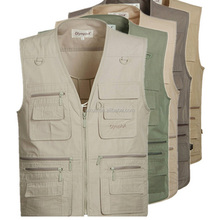 5 Colors Sleeveless Jackets and Coats Mens Outdoor Vest With Many Pockets for Journalist Photography Sports Waistcoat