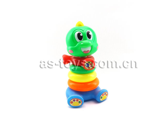 Educational funny kids playing toys rainbow plastic stacking game with safety material