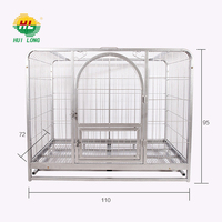 Wholesale Wire Dog Kennels For Flamingo Black Color Huilong factory