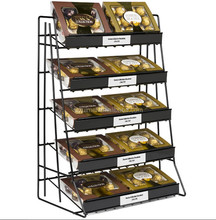 Customized 5-Tier Counter Top Metal Wire Display Stands for Chocolate