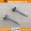 Supply standard DIN7504K steel C1022 hex head roofing screw with EPDM washer