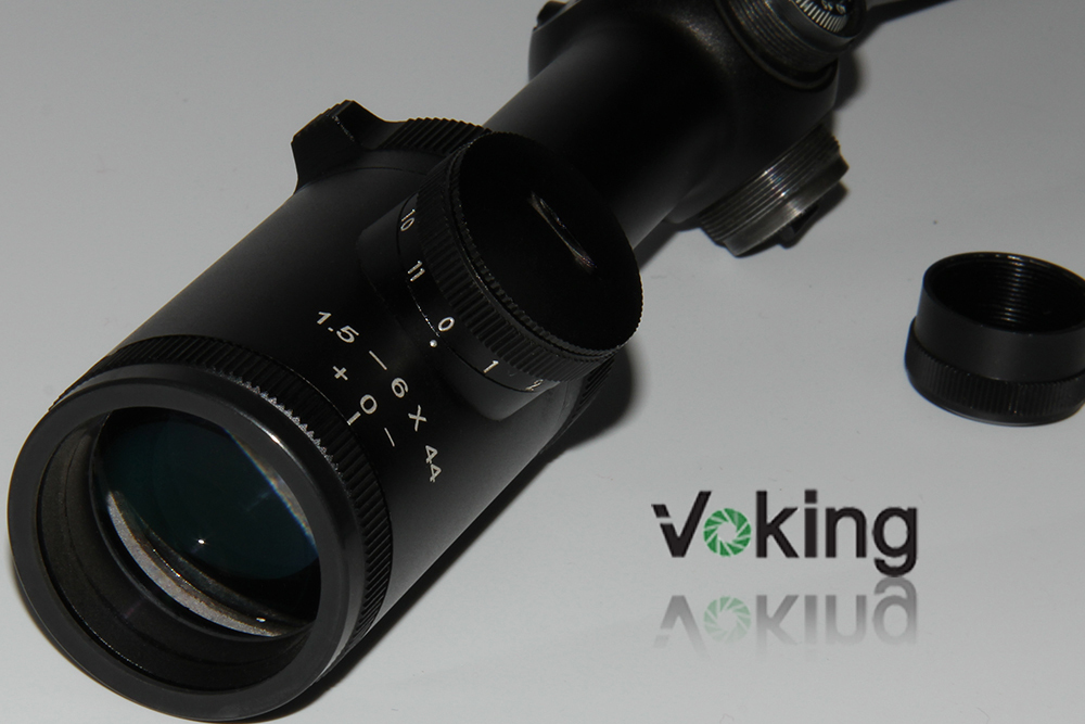Voking/OEM 1.5-6X44IR riflescope adjustment with cover illuminated reticle rifle scope for hunting