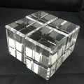 Wholesale good polishing blank crystal block for 3d laser engraving