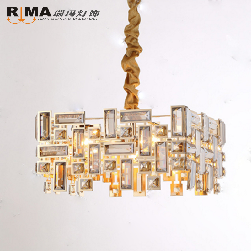 Original design wholesale baccarat gold hotel large K9 modern crystal chandelier