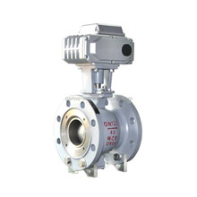 Metal Sealing Offset Electric Actuated Half Segmented Ball Valve