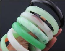 67115 Imitation Jade Bangle Bracelet Glass Bangle