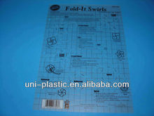 PP or PVC material Plastic Stencils and templates