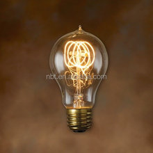 China Factory E27 Edison Vintage Carbon Filament Bulb Lamp A19/A60 40W