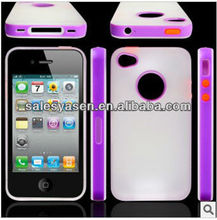 New arrival 2 in 1 case for iphone 4,TPU+silicone for iphone 4