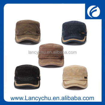 LCPH416 fashion Flat top wholesale army cap