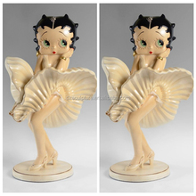 Sexy enchanting cartoon Betty Boop statue with marilyn monroe pose