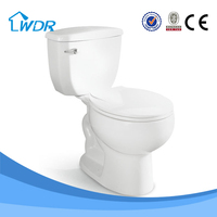South America Sanitary Siphon Ceramic Colored Toilets W8002A
