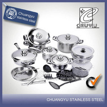 stainless steel hot new products for 2014 decorative cookware set