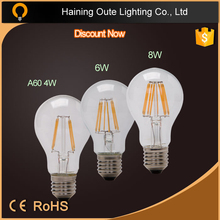 Vintage edison style led filament bulb light with ce rohs certification(CE &Rohs)