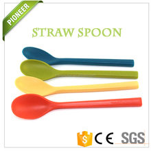Hot Good quality safety material plastic straw spoon products made in china