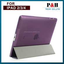 For ipad 5 leather case ,One sided fold four cover cases