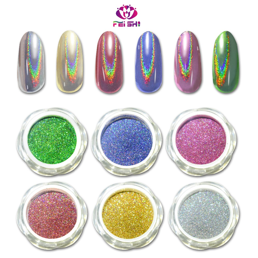 NEW high Quality 6 colors Rainbow Pearls Unicorn Holographic Pigment