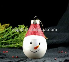 Lovely glass snowman for christmas tree decoration