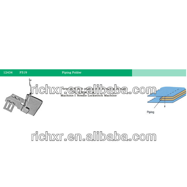 12434/F519 folder/piping attachment/sewing machine spare parts