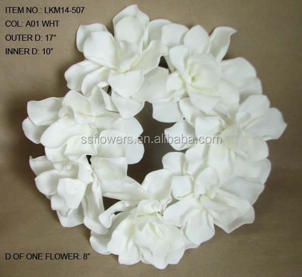 Lastest Artificial EVA Flowers Artificial Magnolia wihte wreath Foam Flower