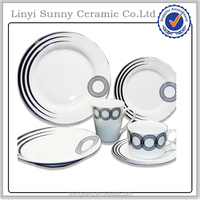 2014 for home and hotel luxury porcelain tableware,exclusive ceramic dinner set