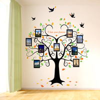 SK2010W big tree photo wall DIY decorative wall sticker/photo frame wall decal 2pieces/set