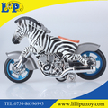 High simulation hard PVC Zebra motorbike toy funny animal toy for zoo