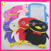2013 New Design penguin Cute Silicone Case For Ipad Mini