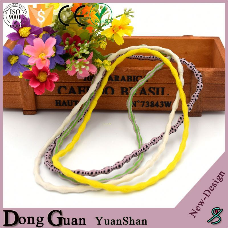Hair Cheap Cute Webbing Bead Shape Elastic Headbands