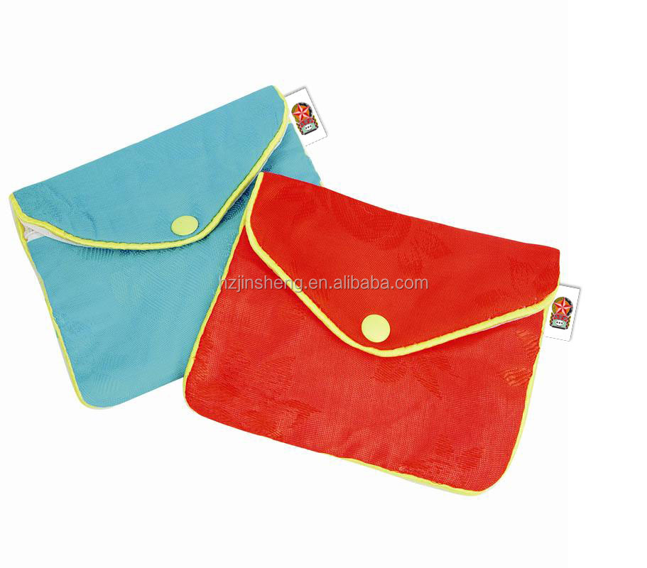 High quality chinese style brocade silk coin purse with button