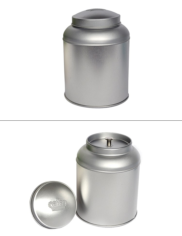 Import spice aluminum tin box with stackable lip round spice can