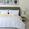 Jacquard fabric cotton fabric soft warm feather comforter cheap