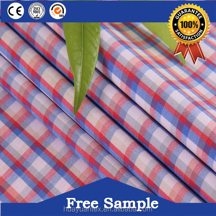 100% combed cotton plaid yarn dyed fabric manufacturer in China