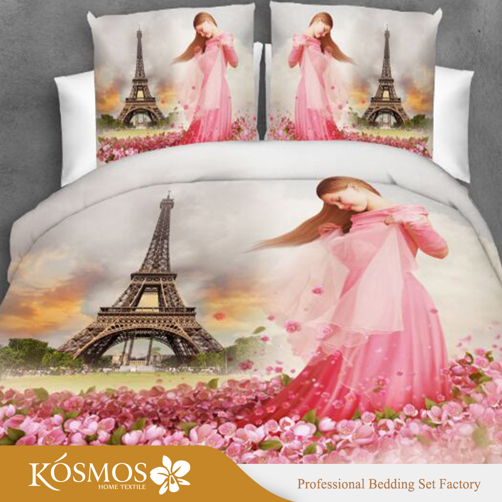 120gsm microfiber printed bedding comforter sets luxury