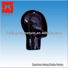 Hot sale clear salon black training mannequin head