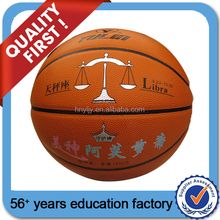 Custom rubber basketball ball/ promotional rubber toys/ logo basketball