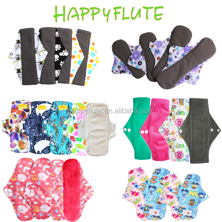 Happy flute nursing sanitary pads female washable pad wholesale