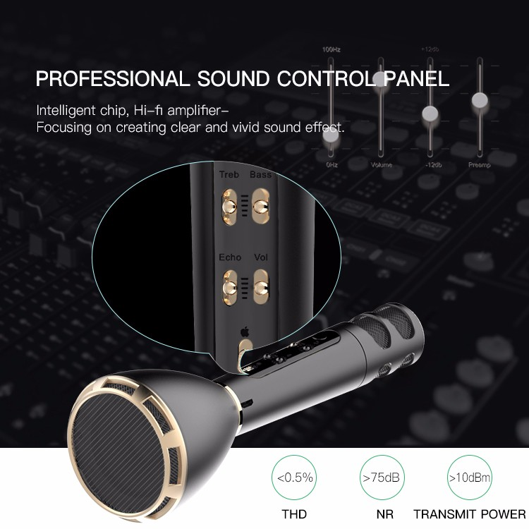 karaoke machine with songs Micgeek M6 microphone mini bluetooth speaker lapel microphone headphones wireless bluetooth wireless