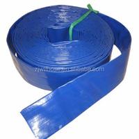 lowest price blue PVC layflat water pump hose