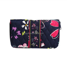 Most Popular Trendy Printed Cute Screen Printing Cotton Fabric Ladies Wallet