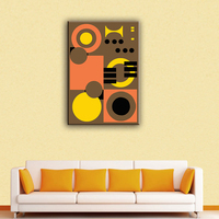 Beautiful geometric abstraction house decor abstract art painting