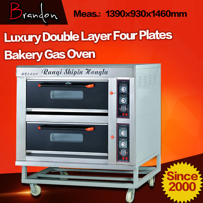 Brandon two deck four trays gas commercial baking oven for cake