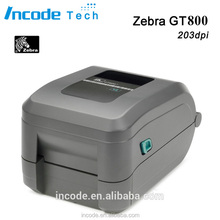 GT800/ 203dpi Zebra desktop thermal transfer ribbon printer , barcode label printer thermal printer