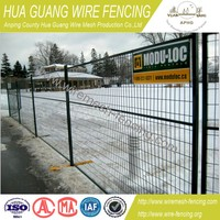 Powder coating temporary metal fence panels , temporary construction fence panels , temporary steel construction fence