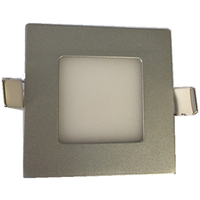 customized silvery color ultra thin flat led recessed panel downlight with CE & RoHS