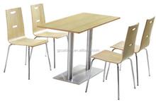 Restaurant stainless table and chair fast food furniture(FOH-BC23)