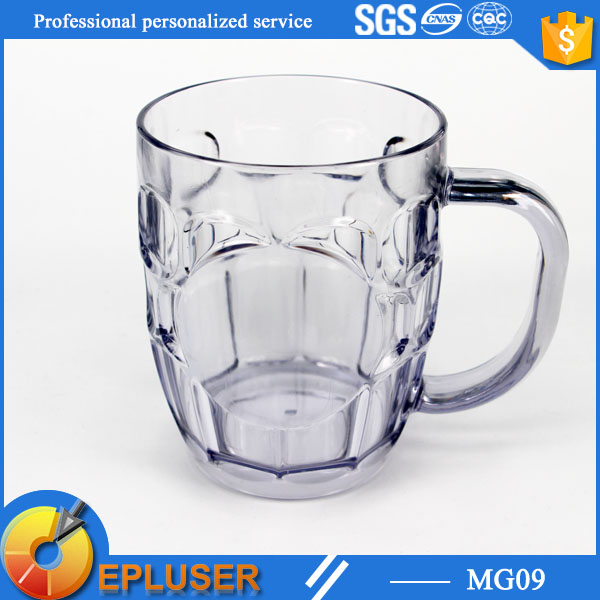 hot sale plastic 20oz drinking cup stocked clear mug with handle