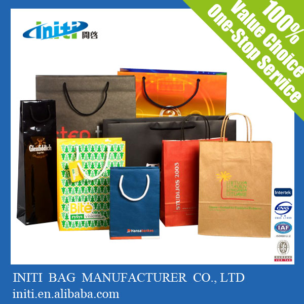 China Hot Factory Quality Cheap Recycle kraft paper shopping bag for shopping