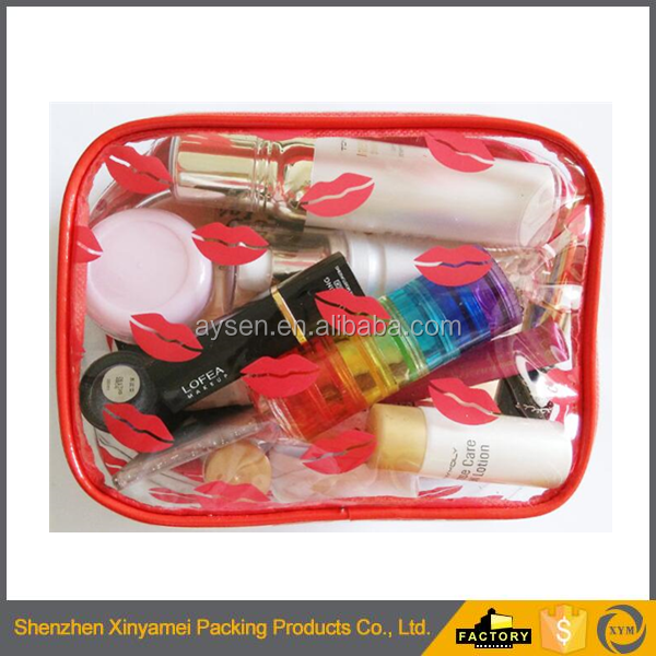 clear PVC candy bag for cosmetic usage